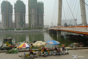 El río Hai en Tianjín. La cuenca del río también alberga Pekín. Las dos ciudades tienen una población combinada de 30 millones.