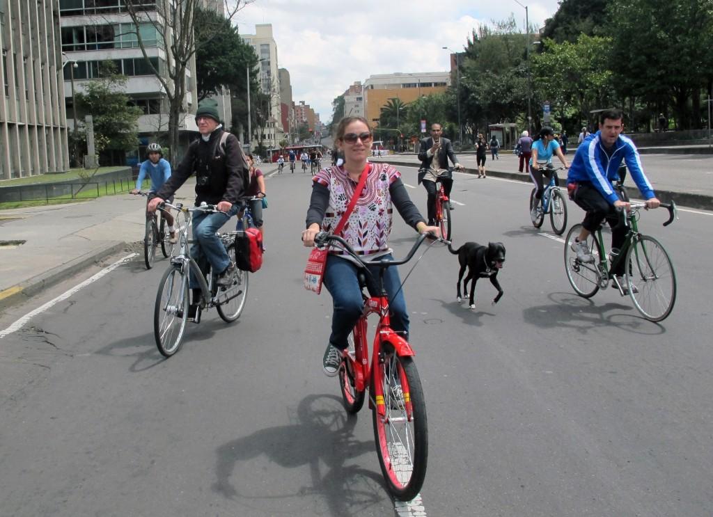 Conociendo la ciclovía de Bogotá (abril de 2014)